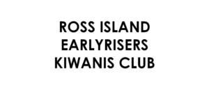 Ross Island Earlyrisers Kiwanis Club Sponsor logo