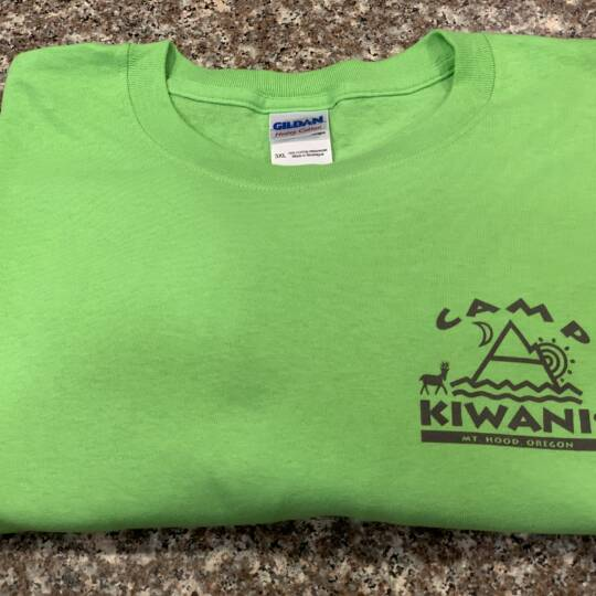 Kiwanis_Green Camp T-shirt