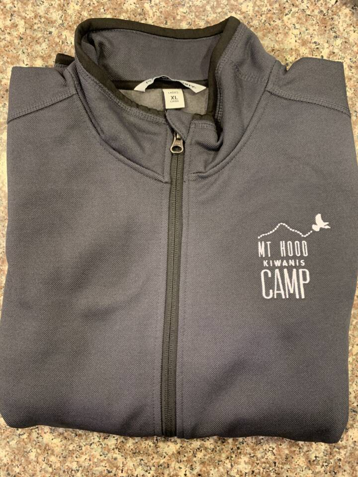 Kiwanis_Ladies Grey Camp Jacket