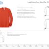 Long Sleeved T-shirt 4xl-6xl size chart